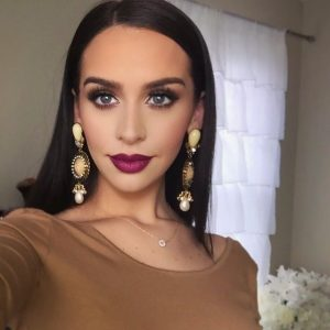Carli Bybel Wears MAC Satin Rebel Lipstick