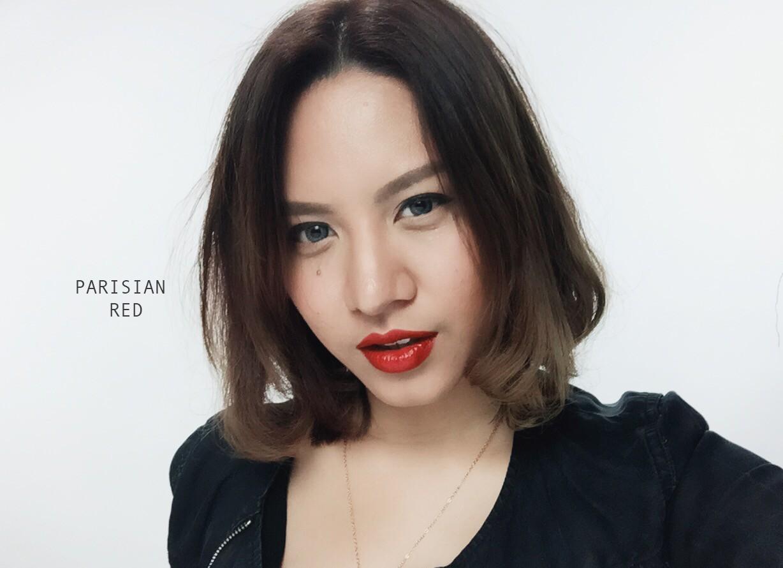 Bobbi Brown Luxe Lip Color Parisian Red on Fair Skin