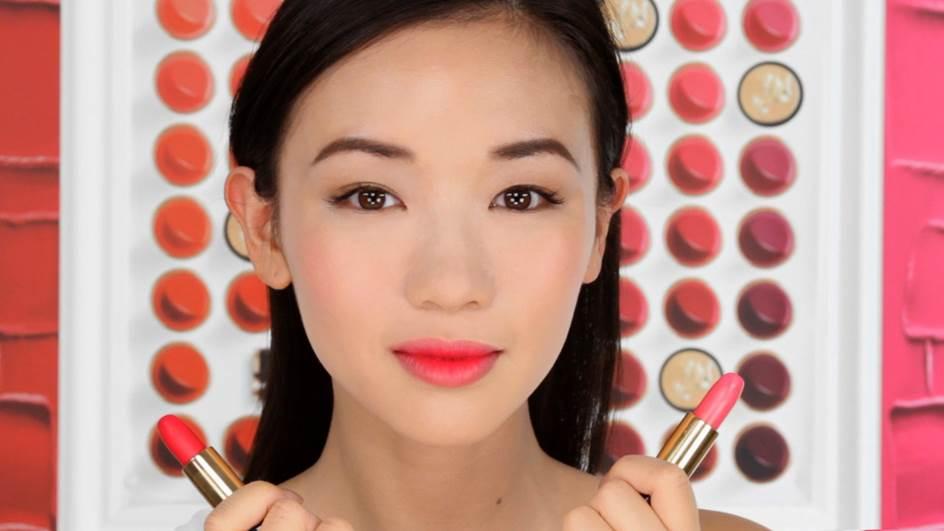 L'Absolu Rouge La Base Rosy on Asian Skin