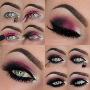 Purple Eye Makeup for Blue Eyes