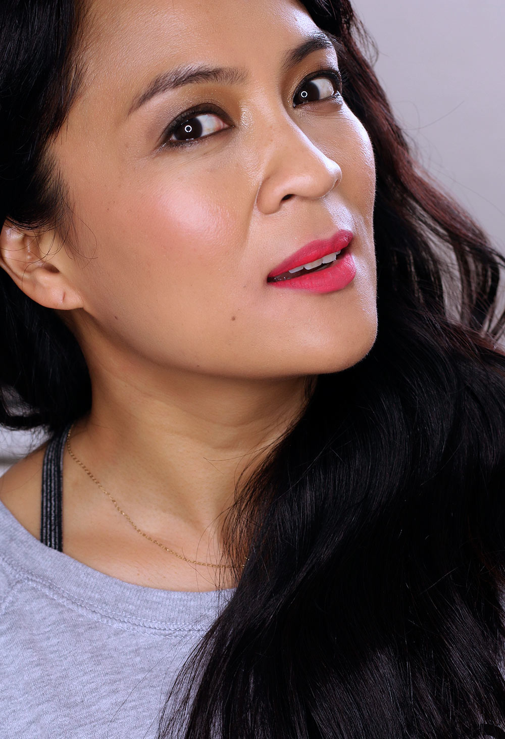 Urban Decay Tryst Vice Lipstick on Olive Skin