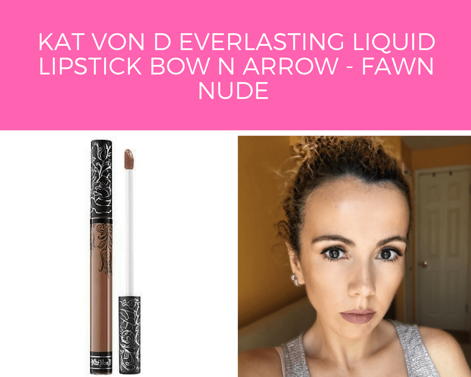 Kat Von D Everlasting Liquid Lipstick Bow N Arrow - Fawn Nude