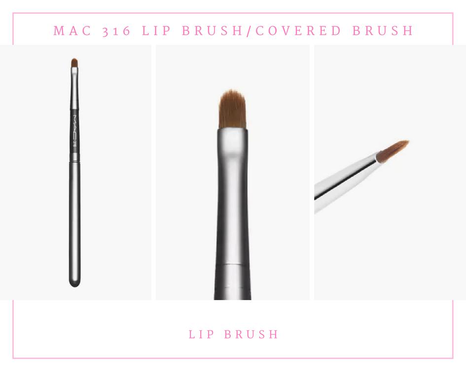 MAC 316 Lip Brush Covered Brush